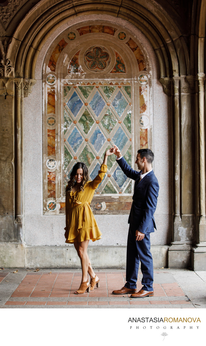Bethesda Terrace NYC Engagement