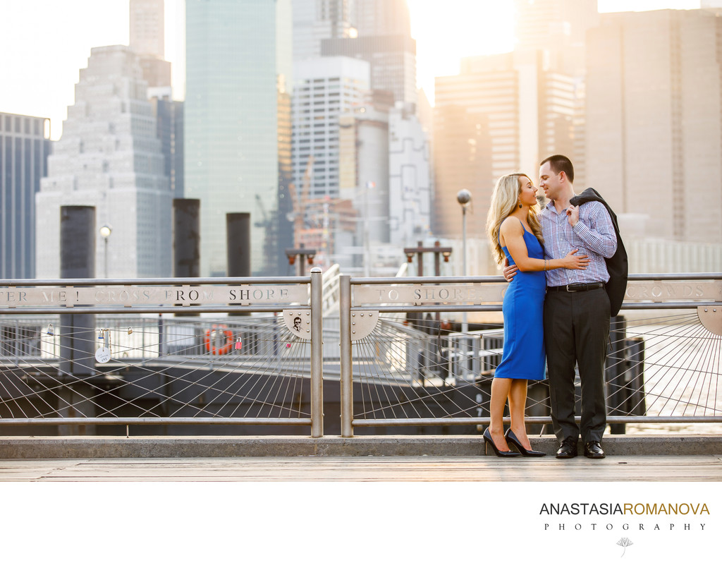 Brooklyn Bridge Park Engagement Photos