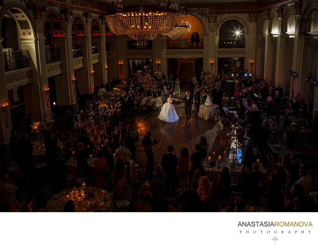 Ballroom at the Ben Philadelphia Wedding Reception Photos