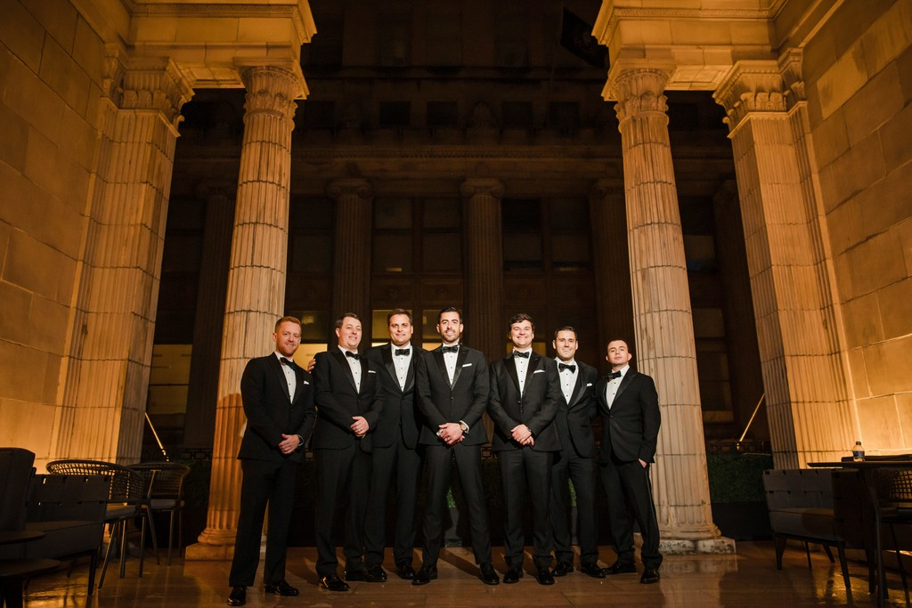 Groomsmen Photos At Ballroom At The Ben