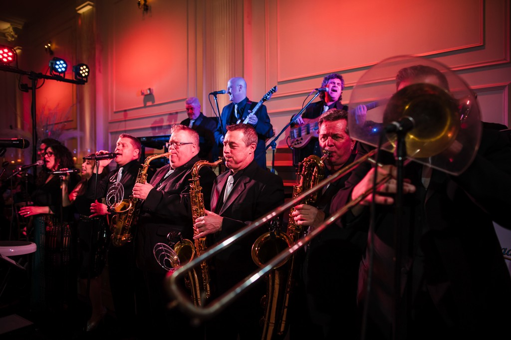 Music Band playing at Cescphaphe Wedding reception