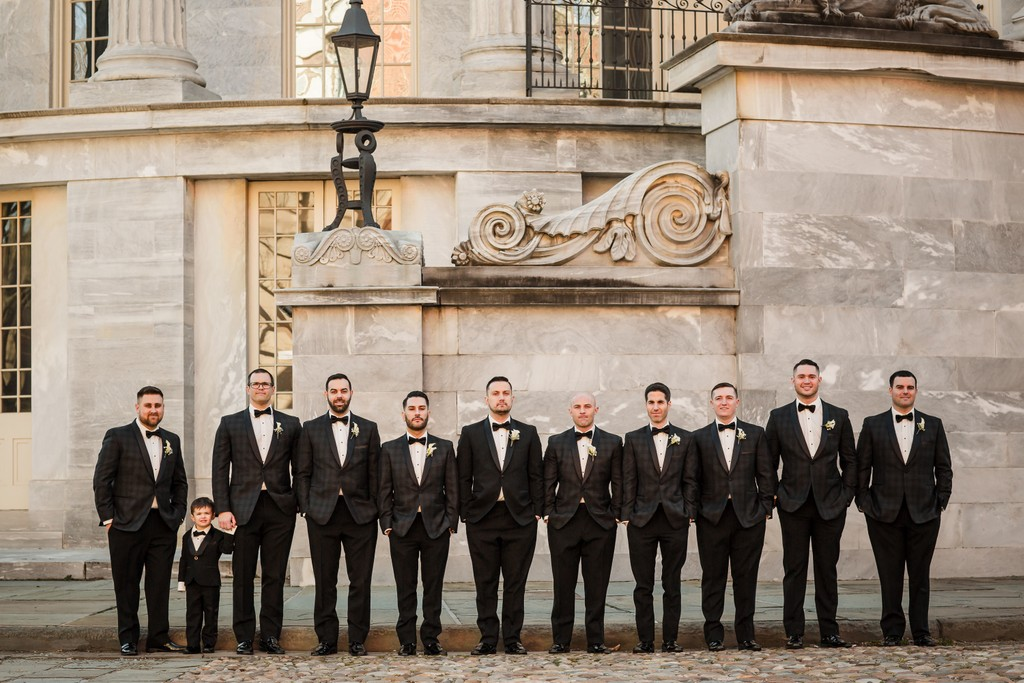 Groomsmen Photo At Merchants Exchange