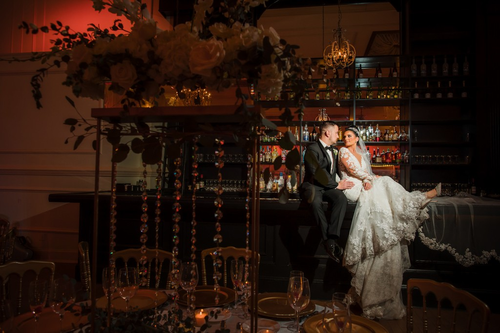 Best Bar Wedding Photos at Cescaohe Ballroom