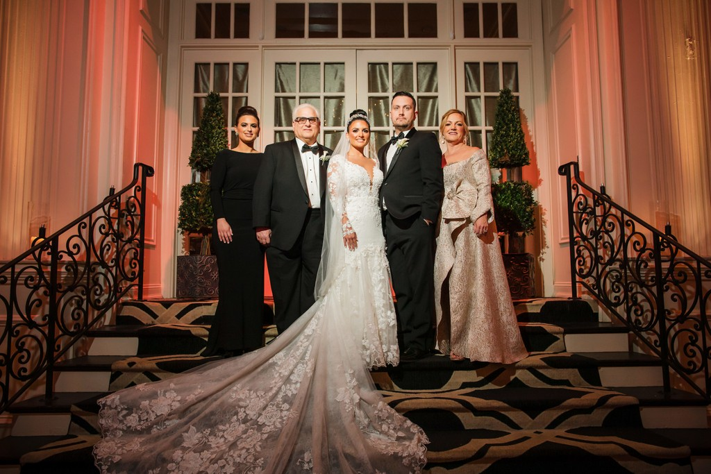 Family Wedding Photos At Cescaphe Ballroom