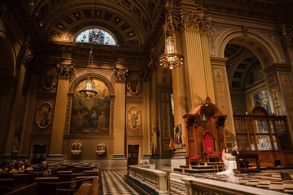Cathedral Basilica Philadelphia Wedding Ceremony Photos