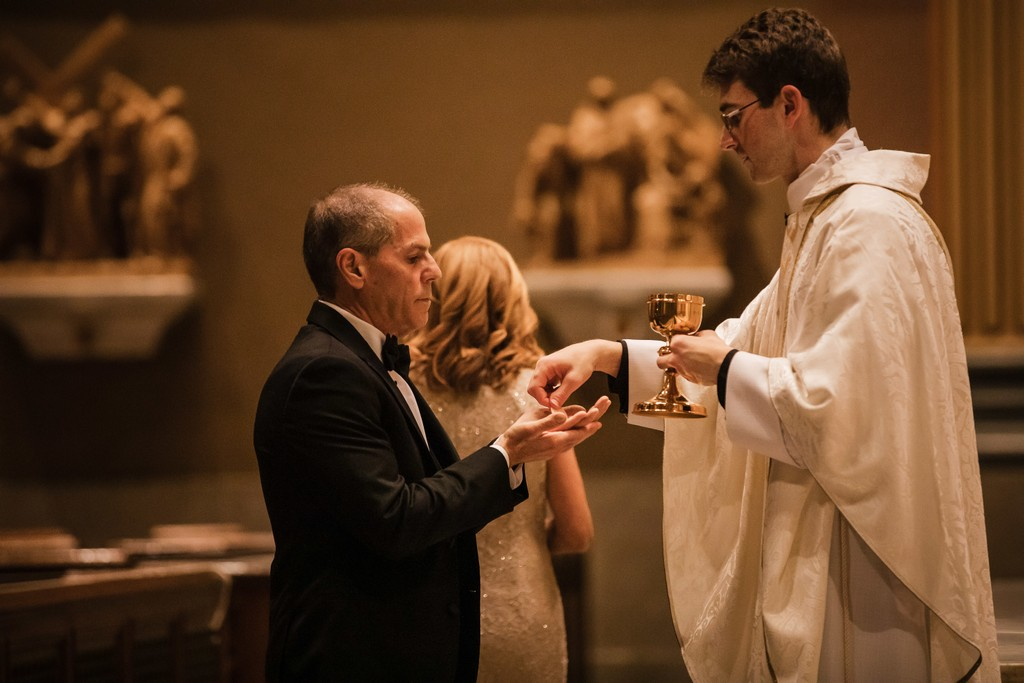 Wedding Communion At Cathedral Basilica In Philly