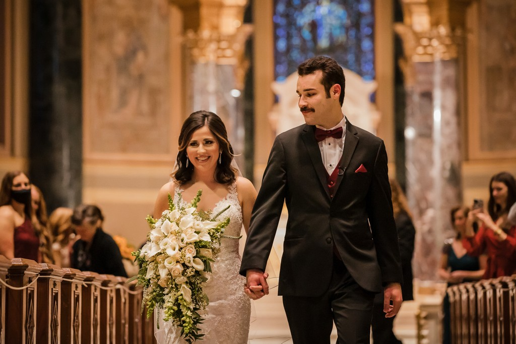 Wedding Ceremony At Basilica in Philly Photos