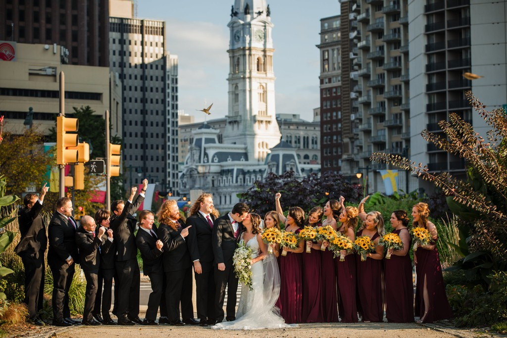 Bridal Party Photos At Cathedral Basilica in Philly