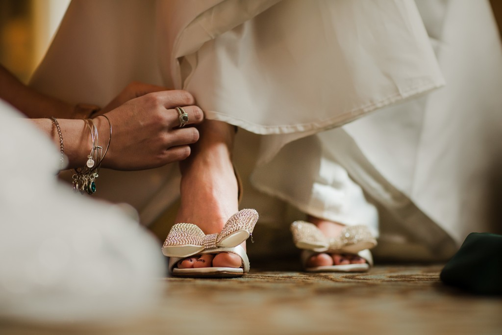 Bridal shoes with bows in Philadelphia