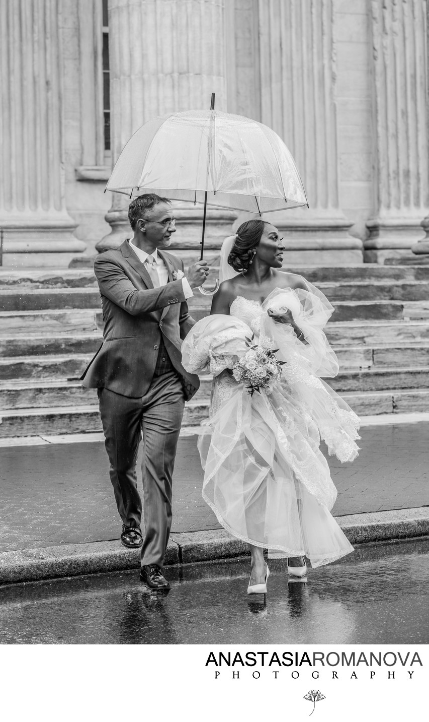 Philadelphia Rainy Wedding Photos
