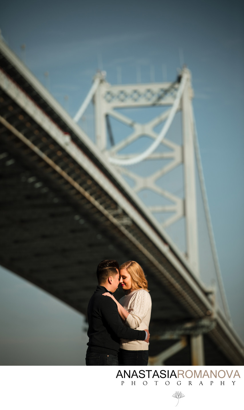 Race Street Pier Philadelphia Engagement Photography