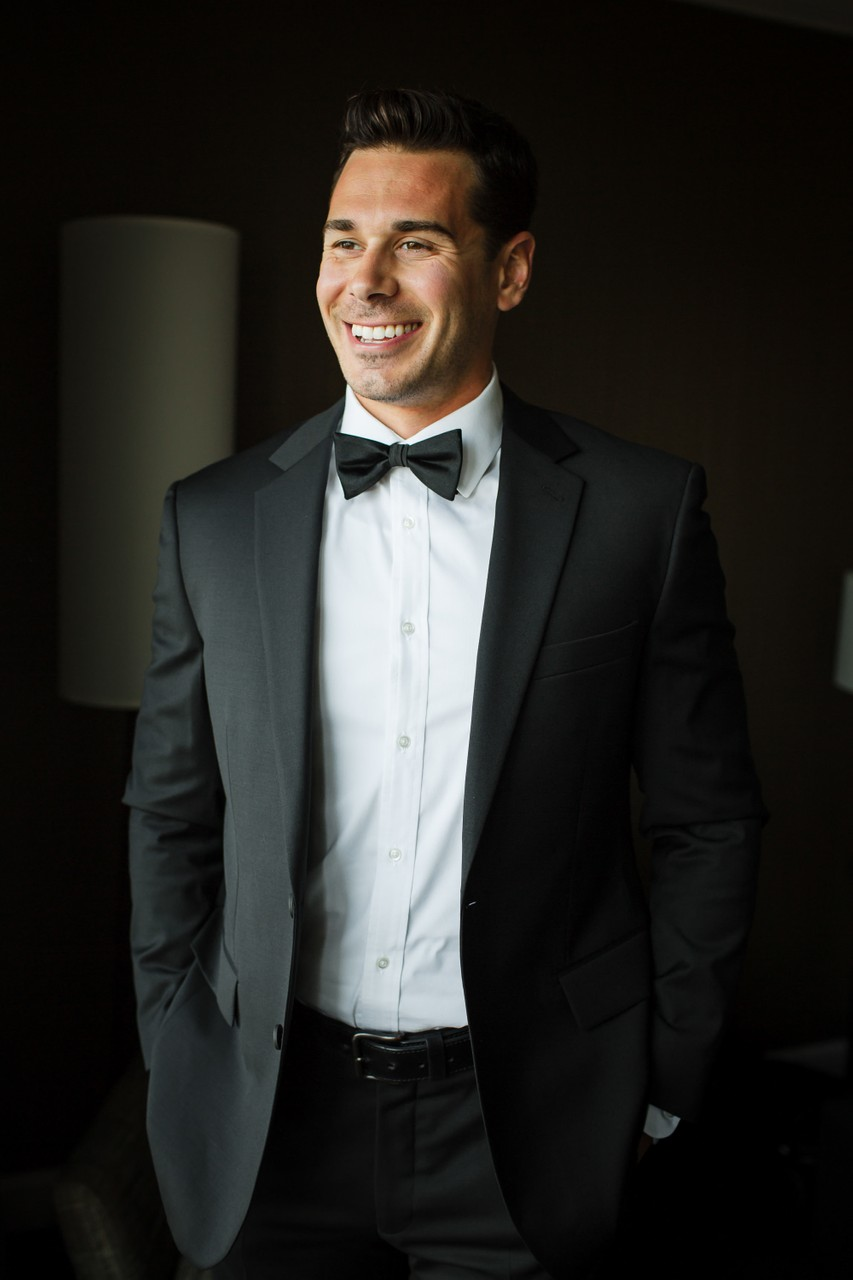 Groom Portraits at Logan Hotel in Philly