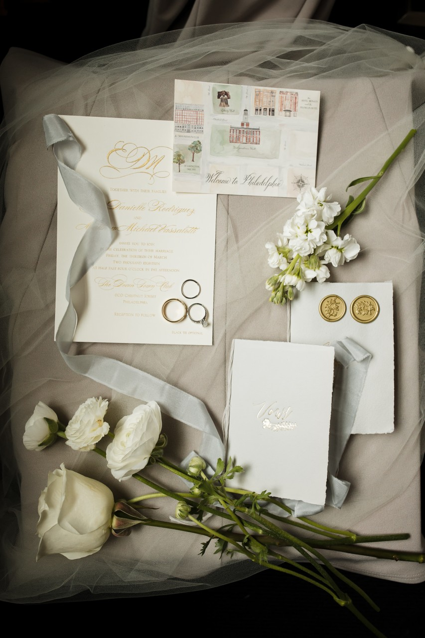 Philadelphia Wedding Elegant Bridal Details