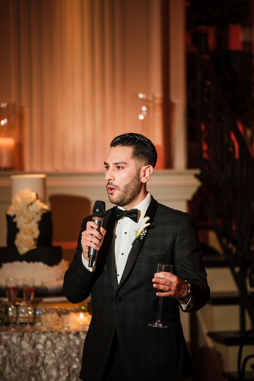 Best Man speech at Cescaphe Ballroom wedding in Philly