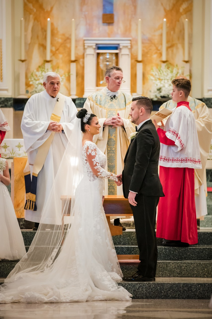 St Monica Catholic Church Wedding Ceremony Philly
