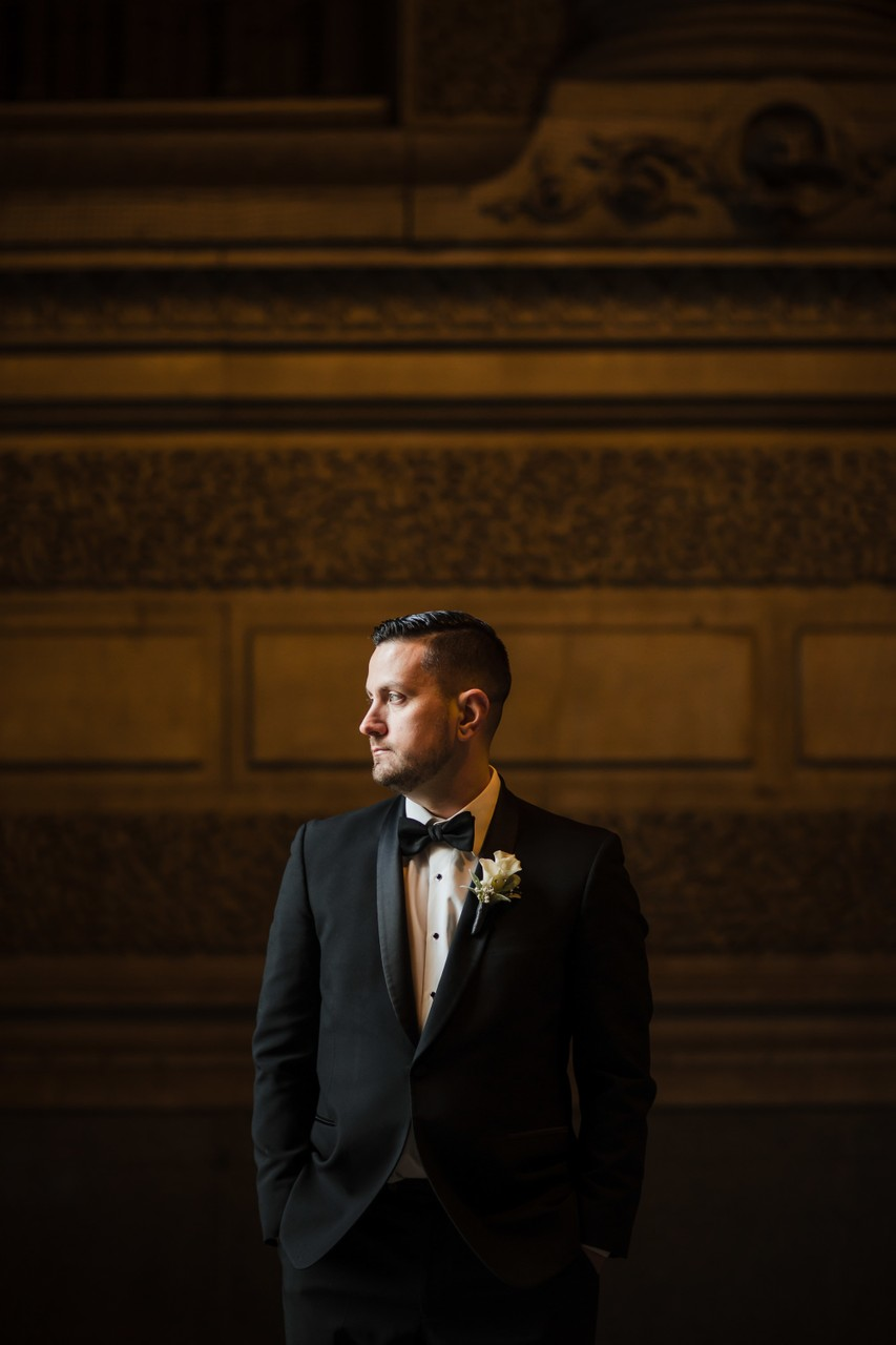 Groom Portraits In Philadelphia
