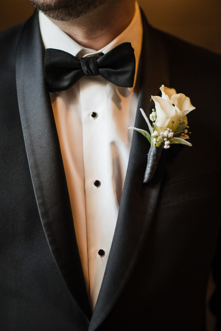 Groom Boutonniere Winter Style