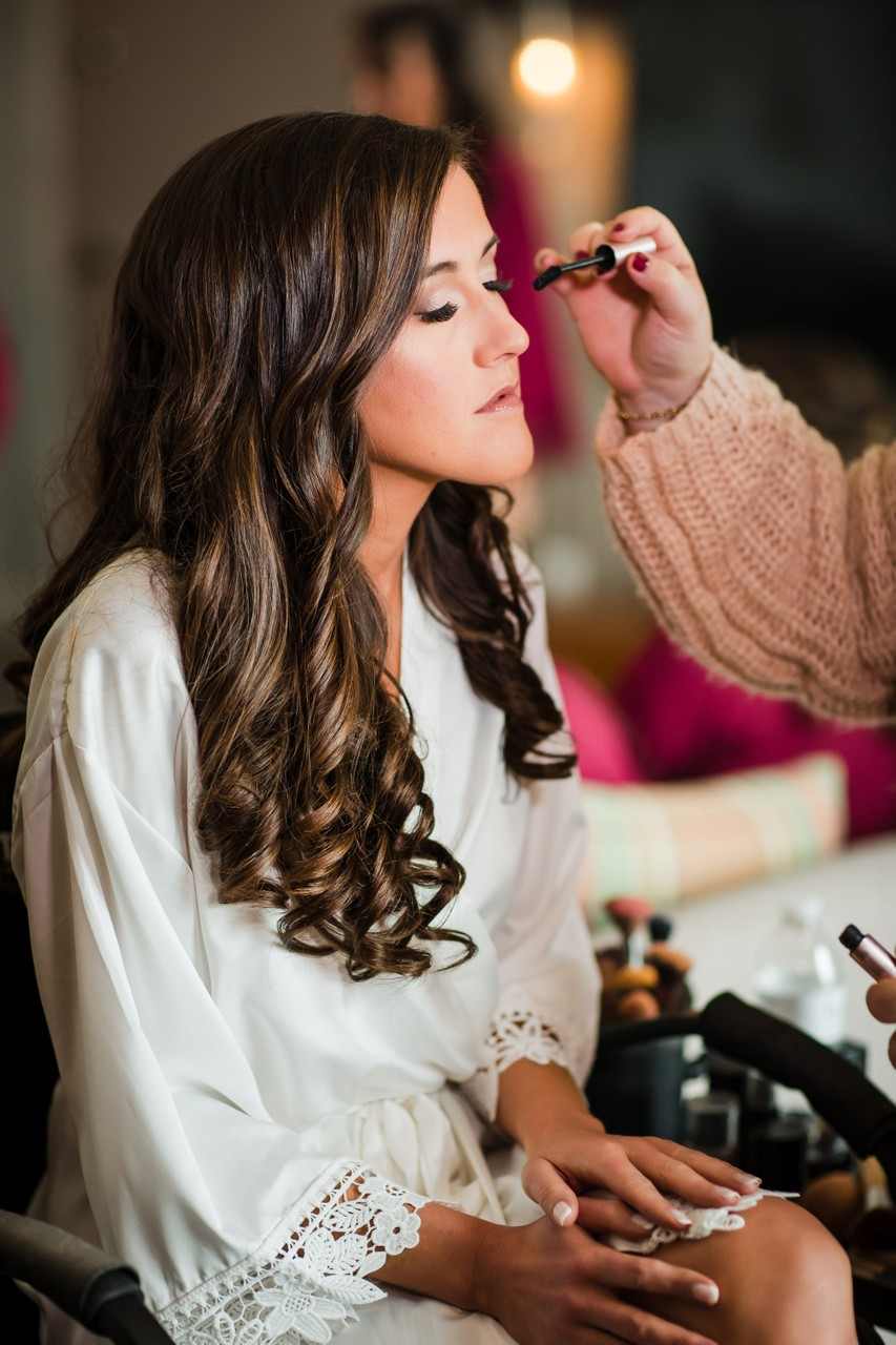 Wedding Makeup Photos at Renaissance Hotel, Philly.