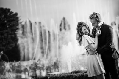 Longwood Gardens Fun Engagement Session