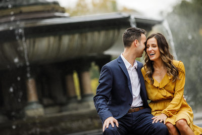 Bethesda Fountain NYC Engagement Photographer