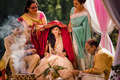 Pleasantdale Chateau Indian Wedding Ceremony