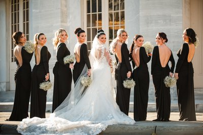 Open Back Black Bridesmaids Dresses in Philly