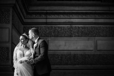 Philly Winter Wedding Photo at The City Hall