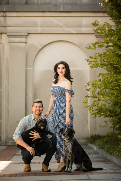Longwood Gardens Engagement Session with Dogs