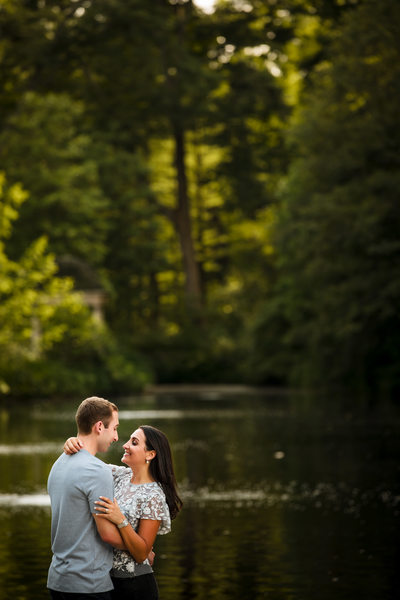 Longwood Gardens Fall Engagement Photography