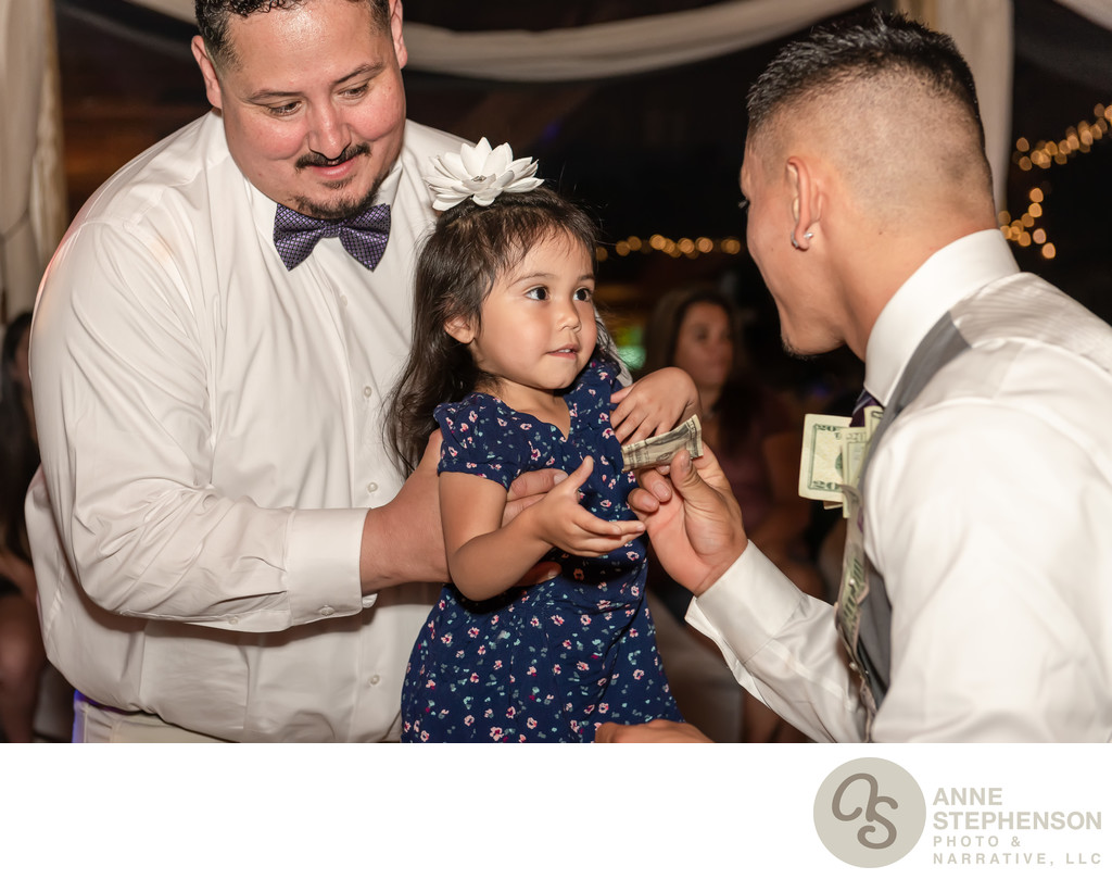 Young Girl Gives Groom Cash During Money Dance
