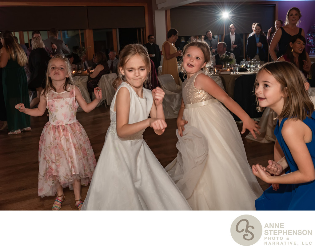 Flower Girls Bust a Move on the Dance Floor