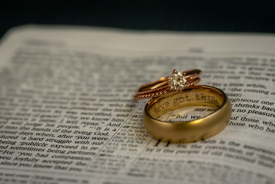 Rings, one inscribed