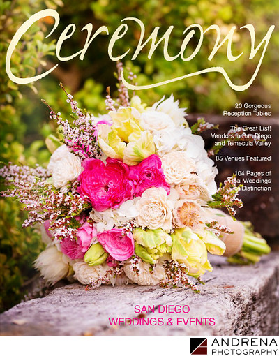 Ceremony Magazine Cover Bouquet Spring