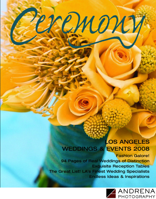 Yellow Bouquet Ceremony Magazine