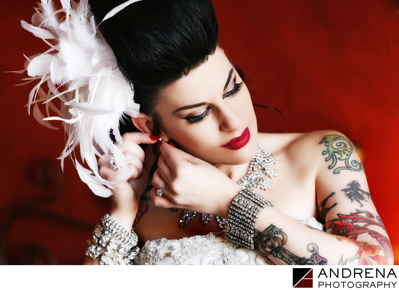 Hotel Figueroa Tattoo Bride Wedding Photographer