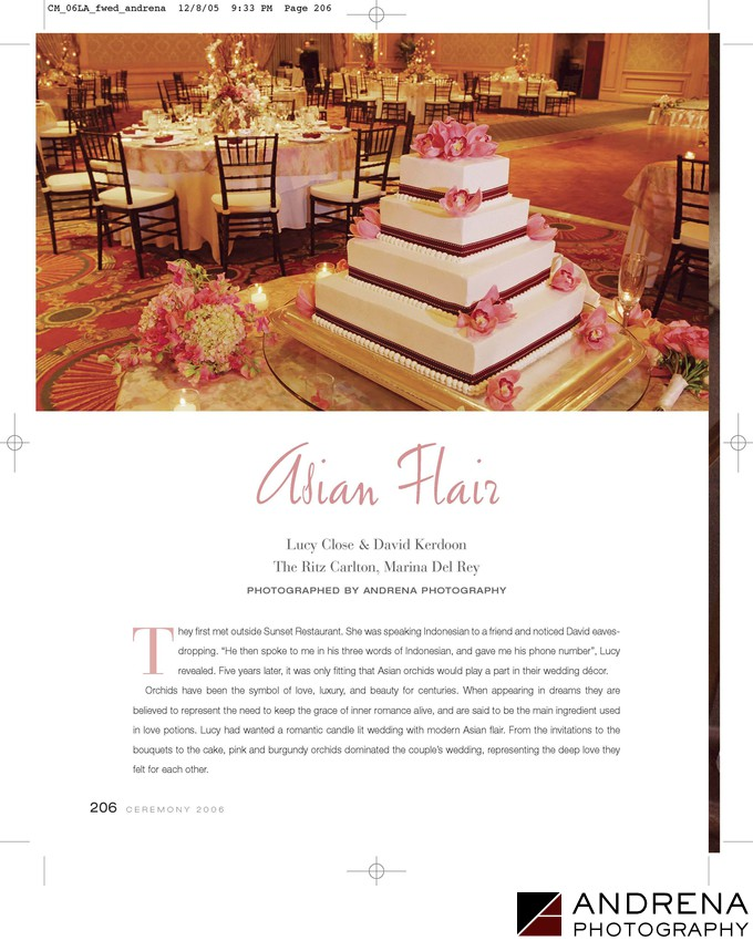 Ceremony Magazine Ritz-Carlton Marina del Rey Wedding