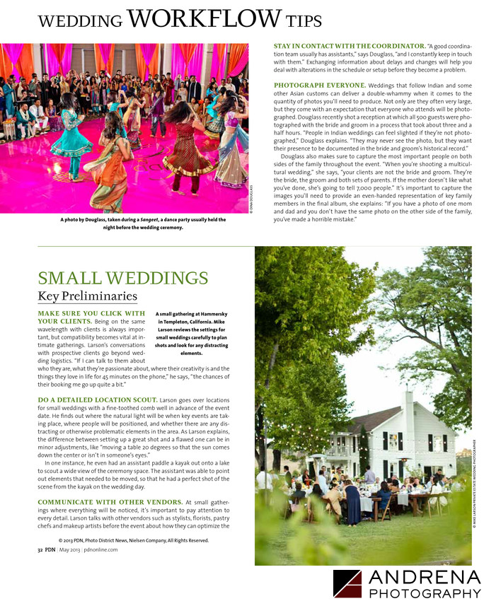 PDN Magazine Huge Weddings Interview with Dina Douglass