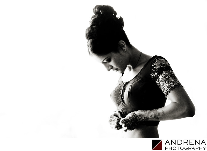 Indian Bride Getting Ready Orange County Photographer