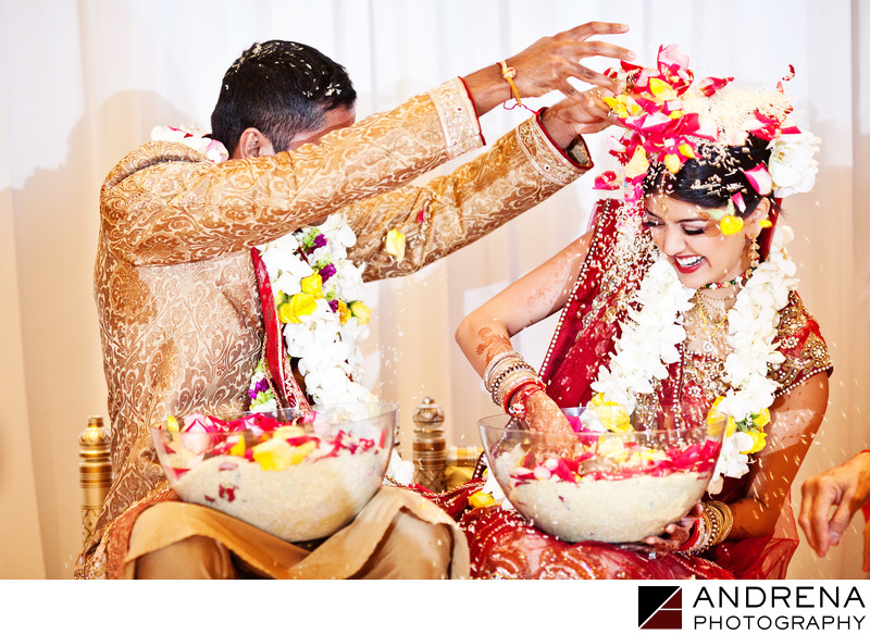 Indoor Indian Wedding Ritz Carlton Laguna Niguel Photographer