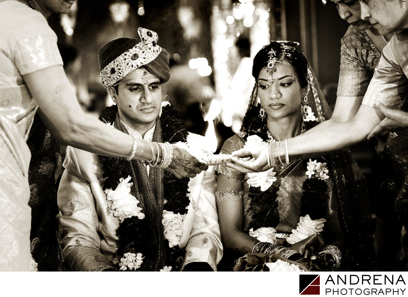South Indian Wedding Photographer Palmer House Hilton Chicago