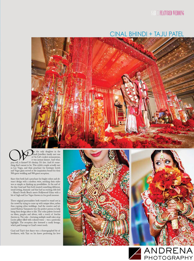 South Asian Bride Magazine Cinal Bhindi Taju Patel Wedding