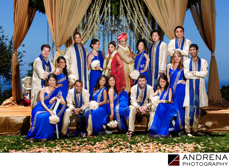 Bridal Party Ritz Carlton Laguna Niguel Indian Wedding Photographer
