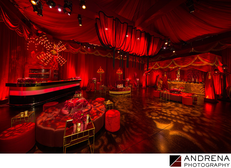 Sonia Sharma Events Revelry Event Designers Red Moulin Rouge Ballroom