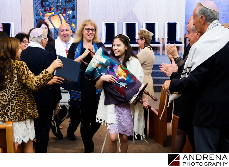 Jewish Bar and Bat Mitzvah Temple Photographers Los Angeles