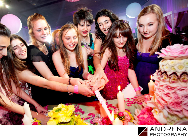Best Bat Mitzvah Photographer Candle Ceremony Los Angeles