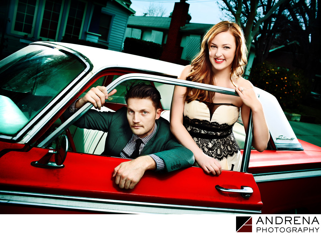 Kevin Earnest Vintage Car Engagement Session