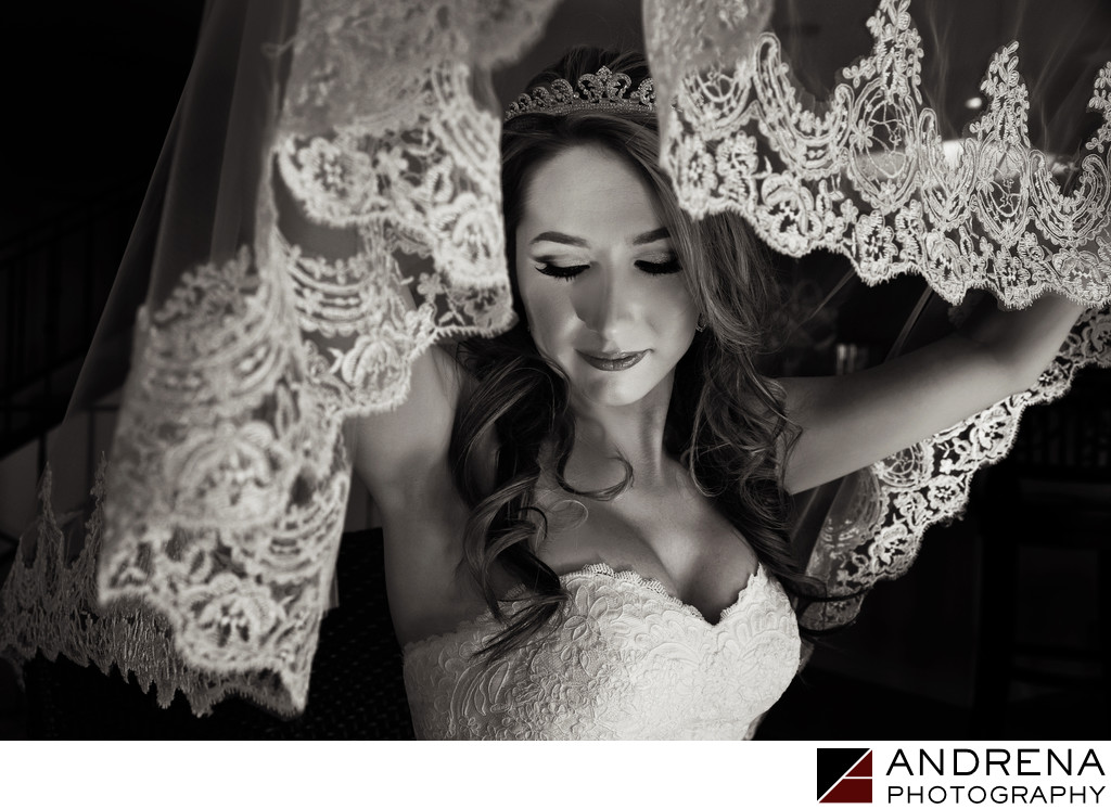 Beautiful Bridal Veil Polish Catholic Wedding Photographer