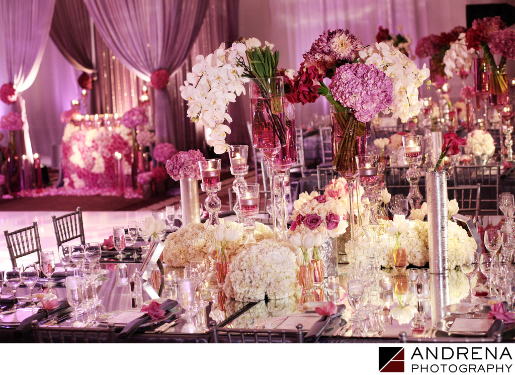 Ritz Carlton Square Root Lavender Reception Flowers