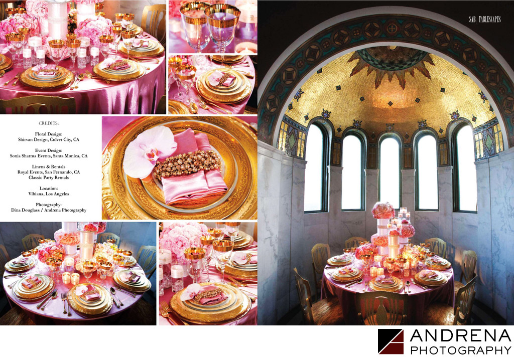 Vibiana Pink and Gold Tabletop Decor