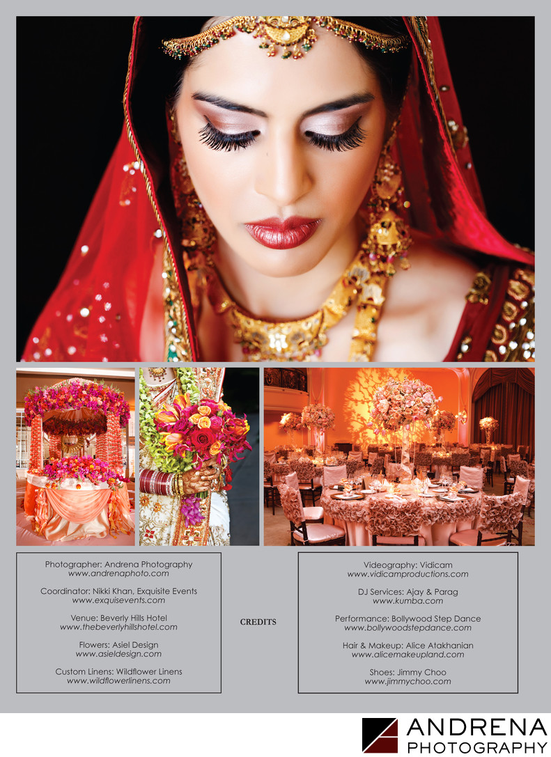Beverly Hills Hotel Wedding South Asian Bride Magazine